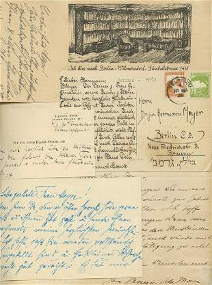 Collection of Greetings Sent to Hermann Meyer Upon the