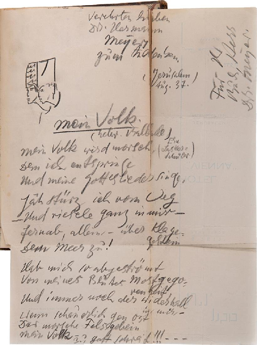 "Hermann Meyer's ""Guest Book"" - Dedications and"