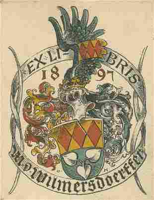 Collection of European Bookplates Many Engravings of