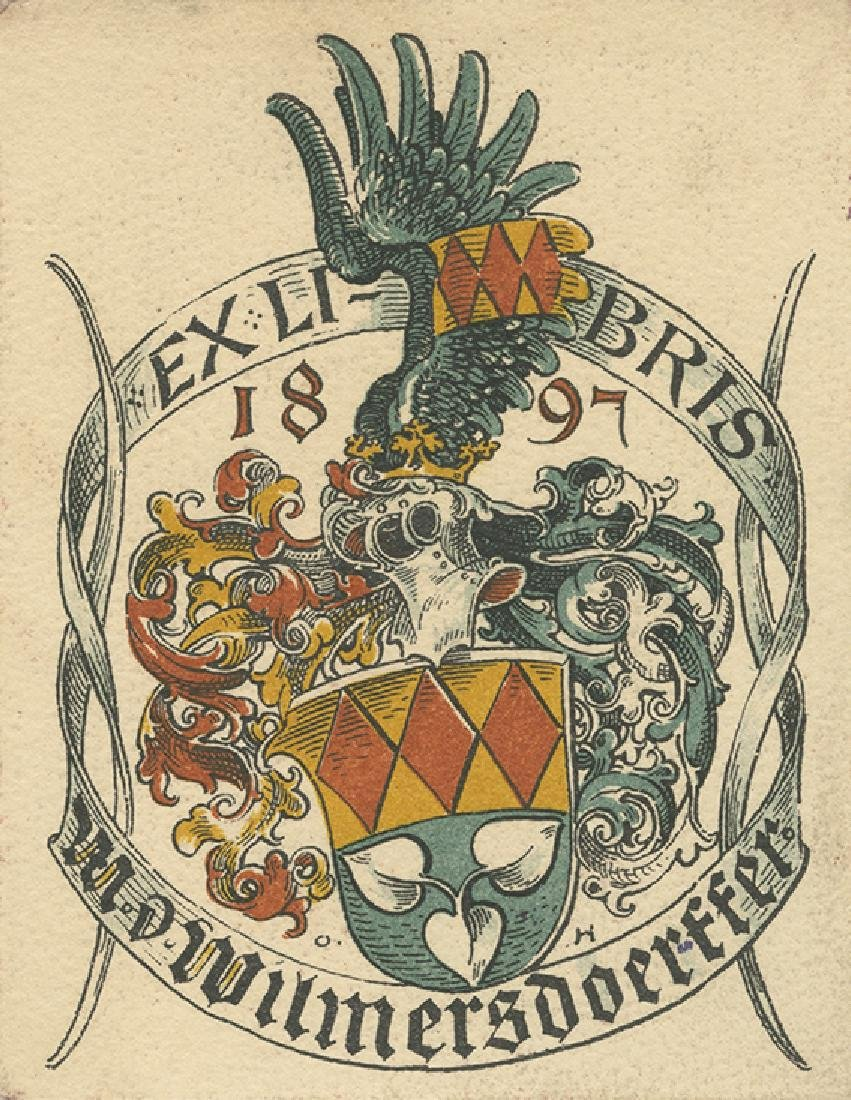Collection of European Bookplates - Many Engravings of