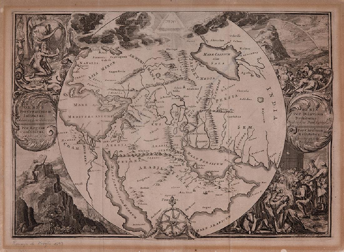 Map of the Middle East - Engraving - Amsterdam, 18th