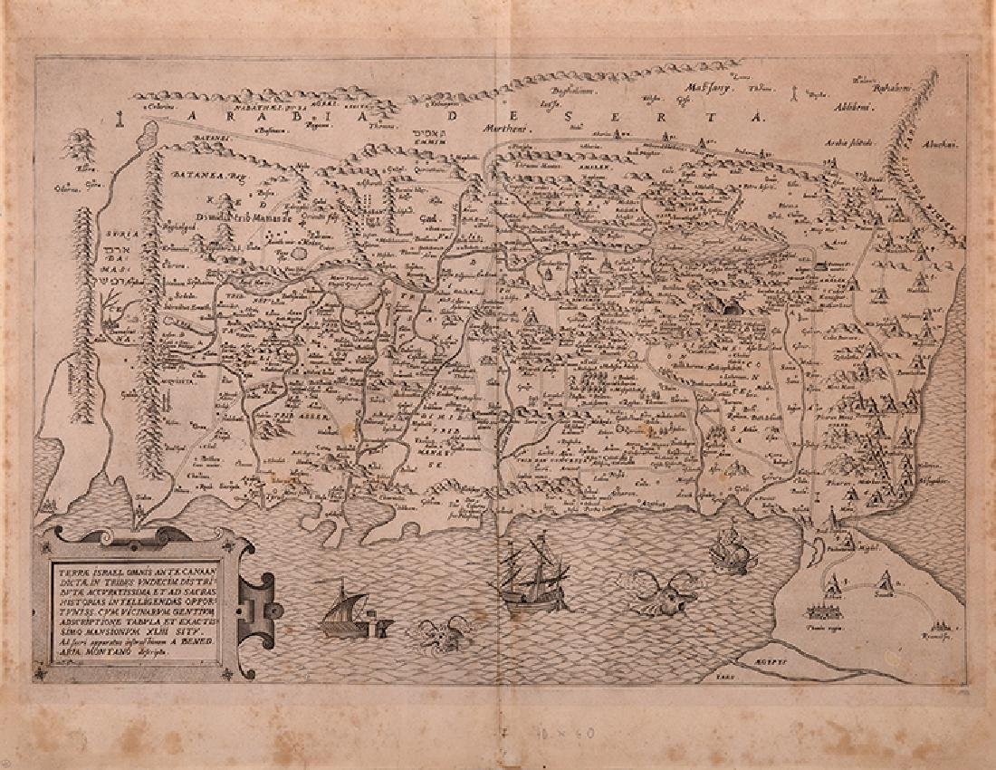 Map of Palestine - Engraving - 16th Century