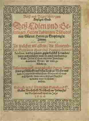 Pilgrimage to Palestine Switzerland 1606