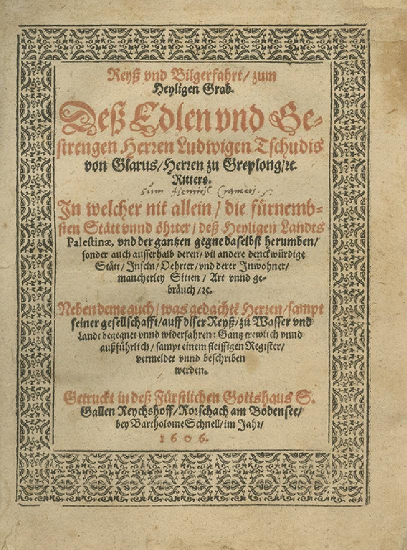 Pilgrimage to Palestine - Switzerland, 1606
