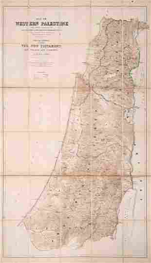 Two Large Maps of Palestine Palestine Exploration