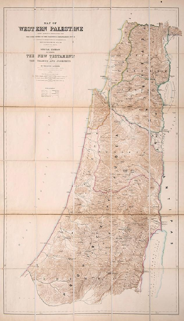 "Two Large Maps of Palestine - ""Palestine Exploration"