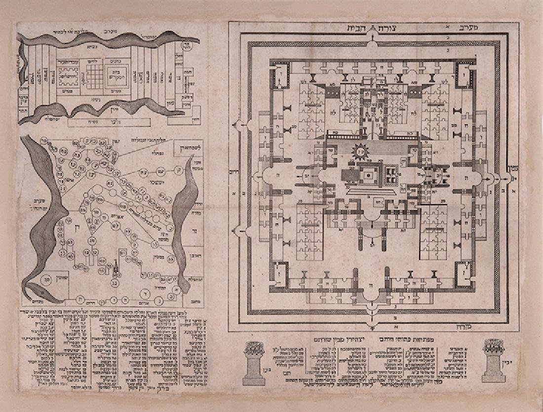 Hebrew Maps of Palestine and a Plan of the Temple