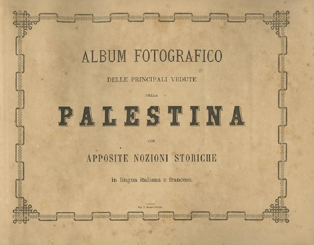 Album with Photographs from Palestine - Italy, 19th