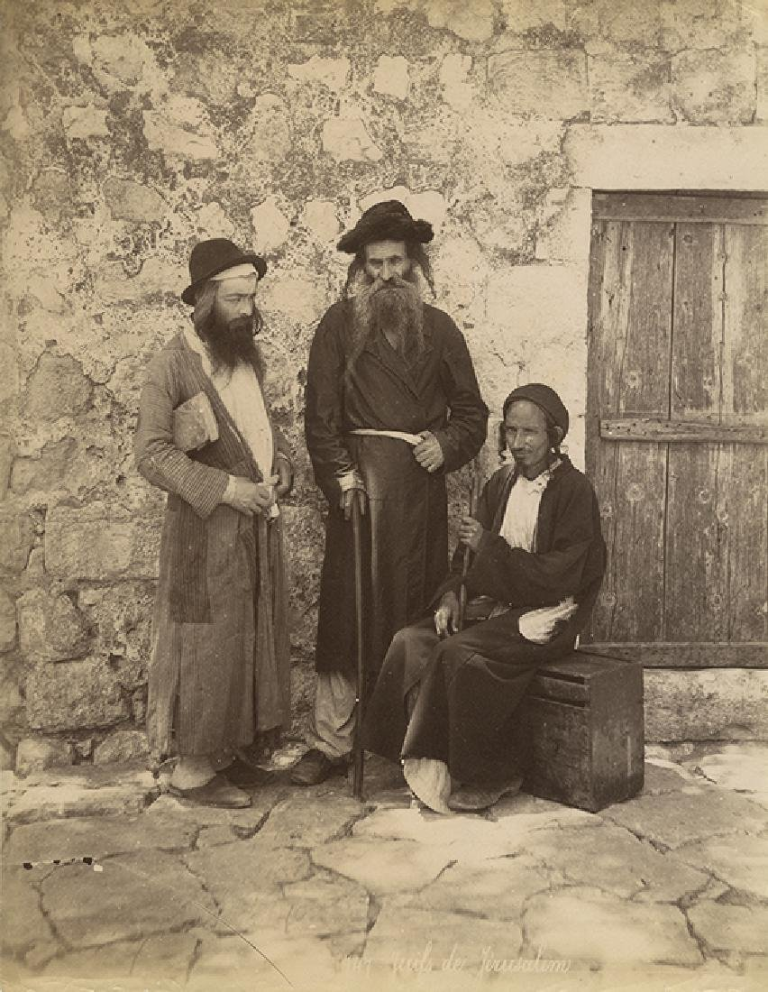 Two Large Photographs - Jews in Jerusalem - Felix