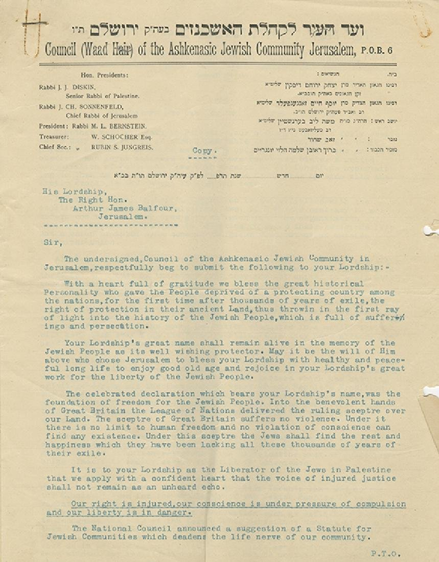 Collection of Letters and Paper Items - Council of the