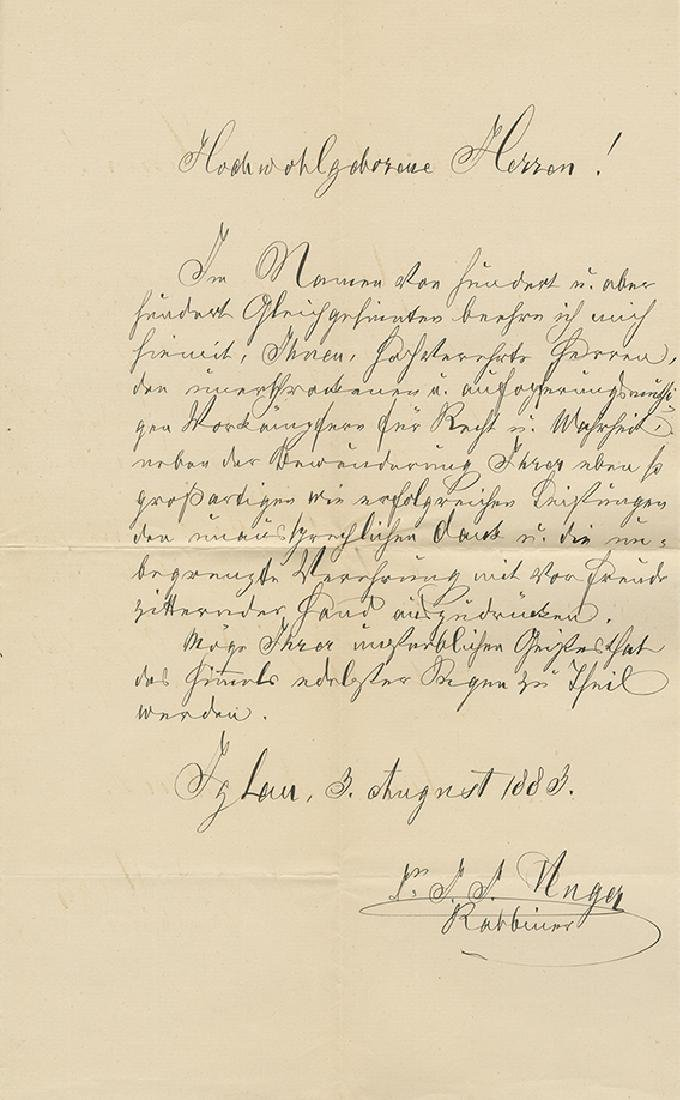 Collection of Letters and Telegrams - Thanks and
