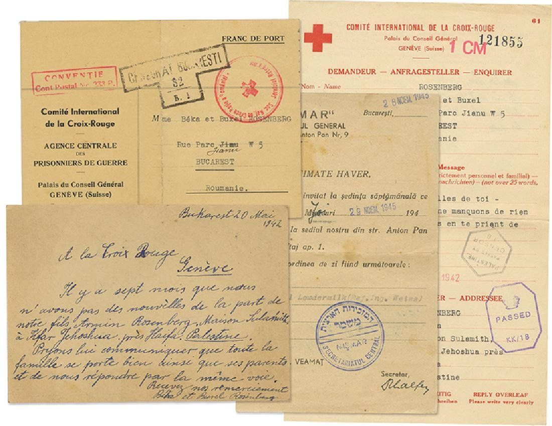Archive of Documents and Letters - The Rosenberg Family