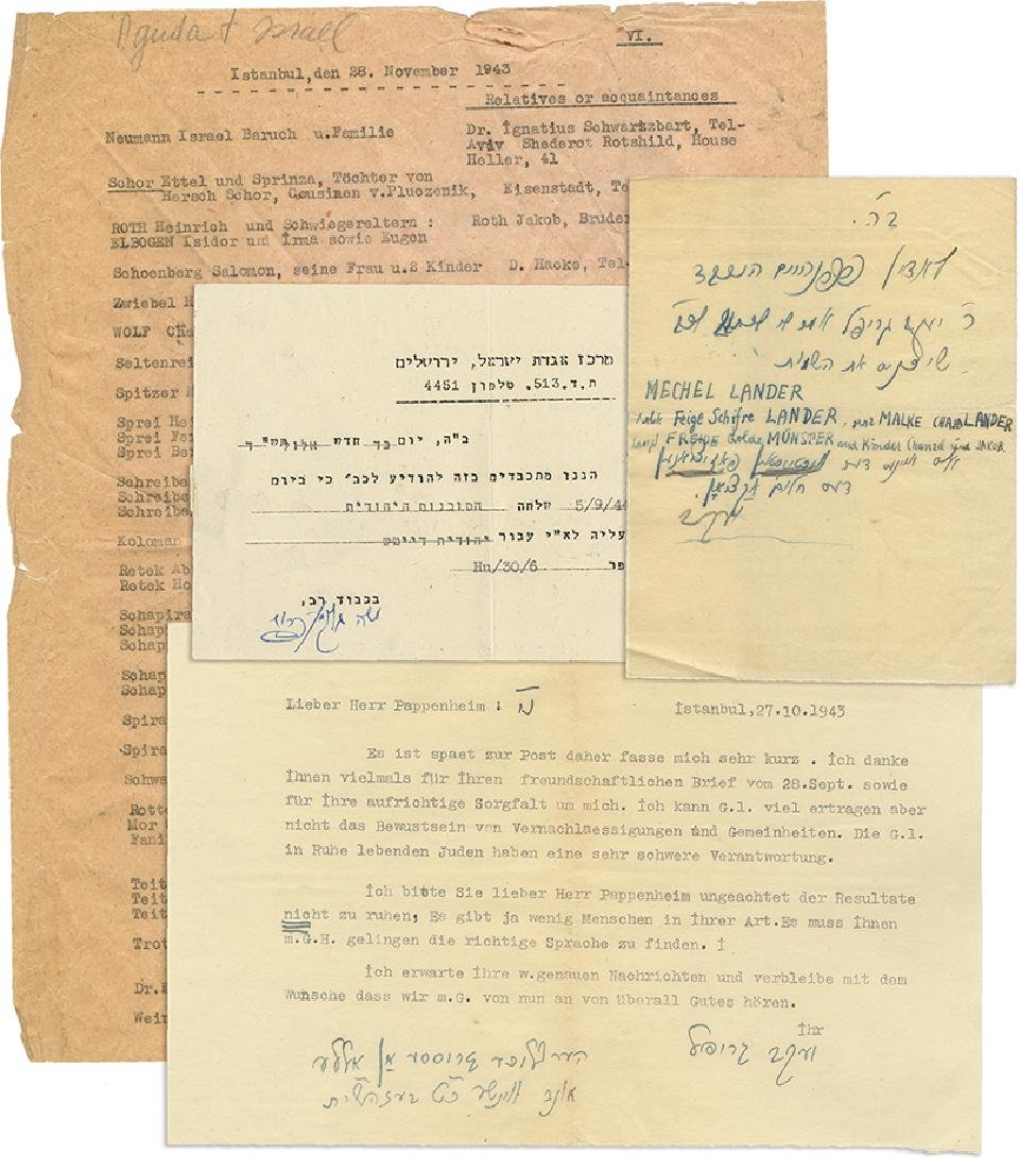 Collection of Letters and Paper Items of Agudat Israel