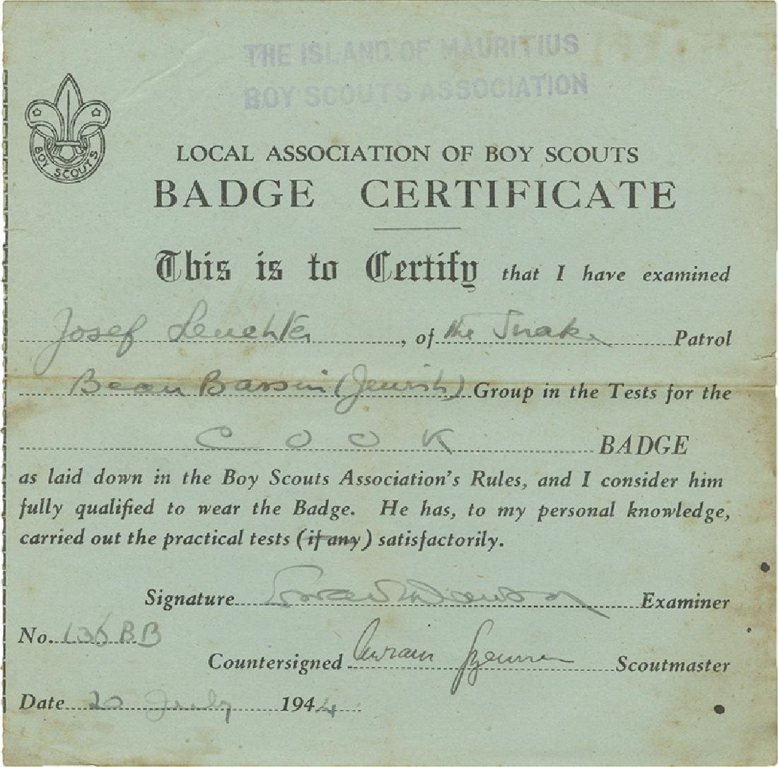 Collection of Paper Items - Boy Scouts Association in
