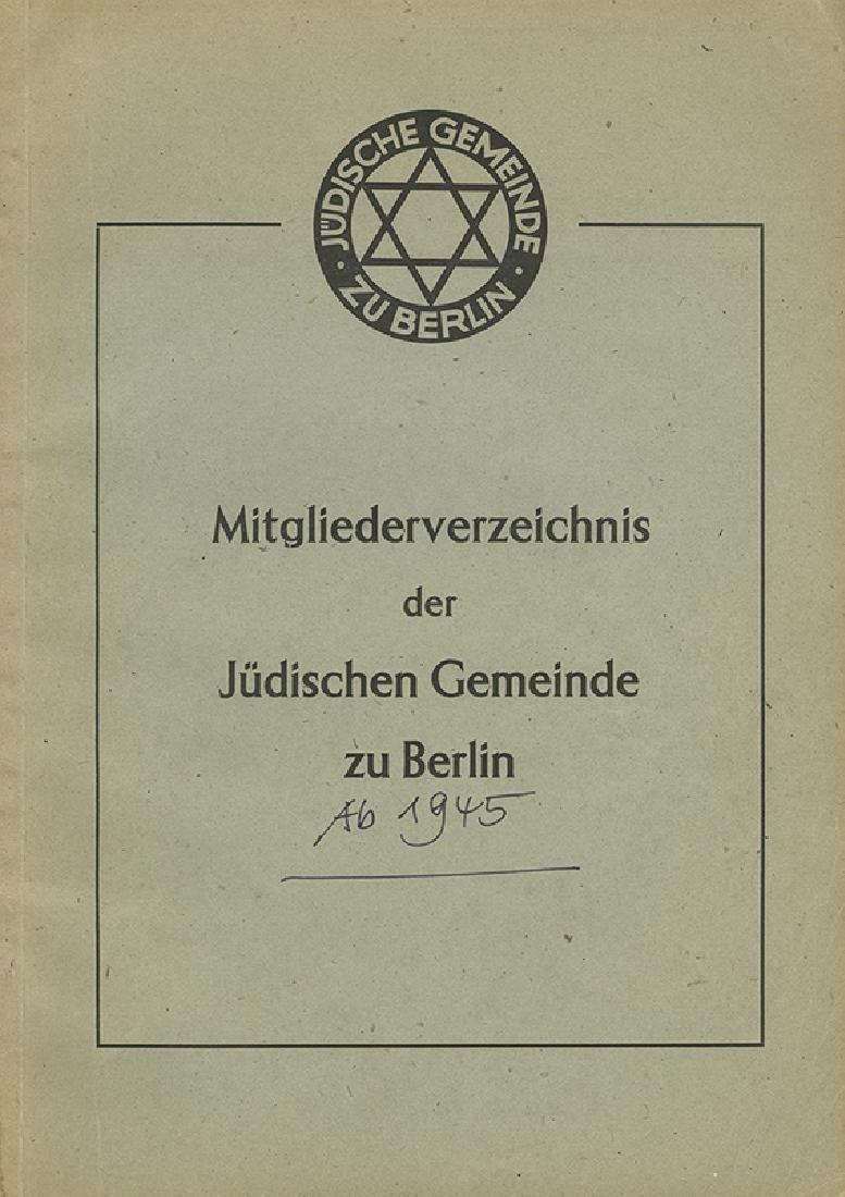 List of Members of the Berlin Jewish Community -