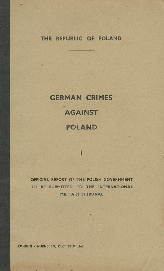 """German Crimes against Poland"" - Official Report of the"