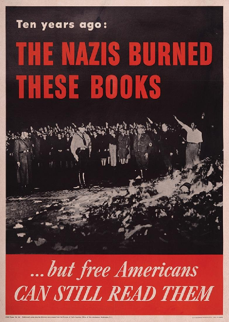 """Ten Years Ago the Nazis Burned These Books"" - American"