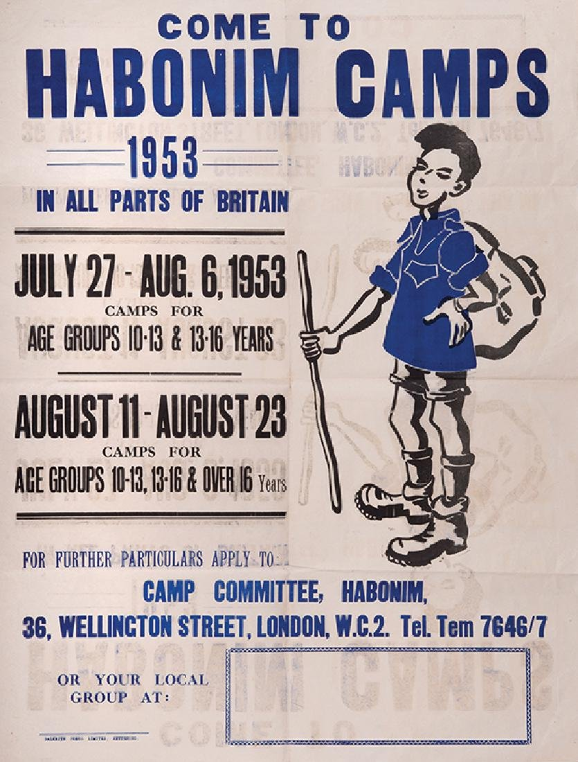 """Come to Habonim Camps"" - Poster - Britain, 1953"