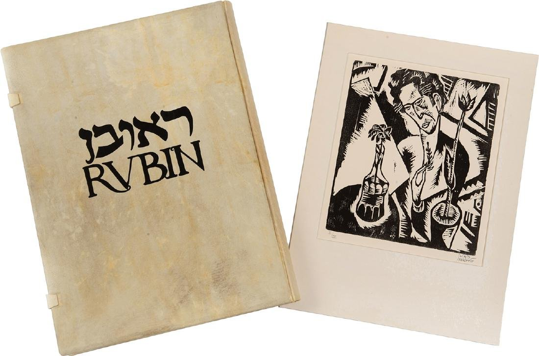 """The Godseekers"" - Woodcuts by Reuven Rubin - Exquisite"