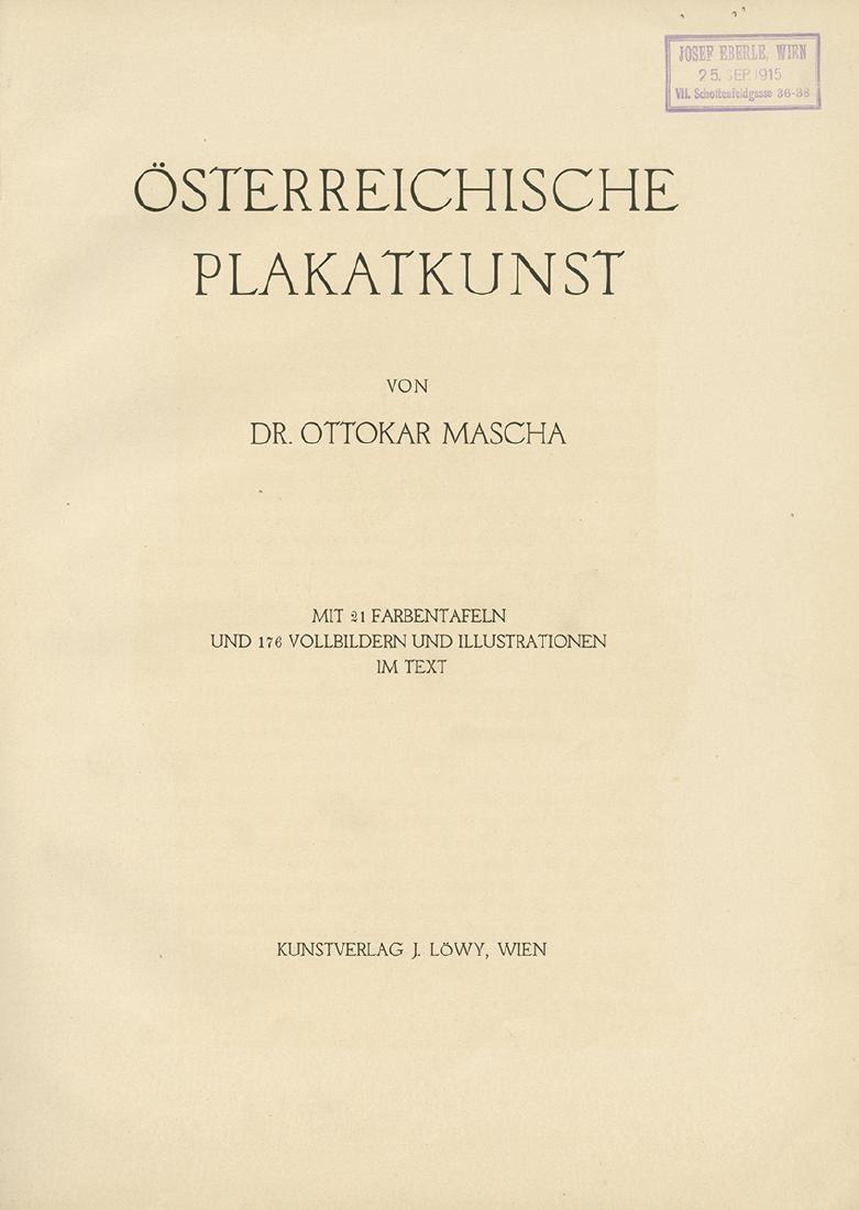 """Austrian Poster Art"" - Vienna, ca. 1915"