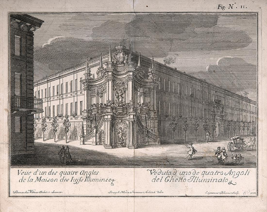The Jewish Ghetto In Turin - Engraving, 1737