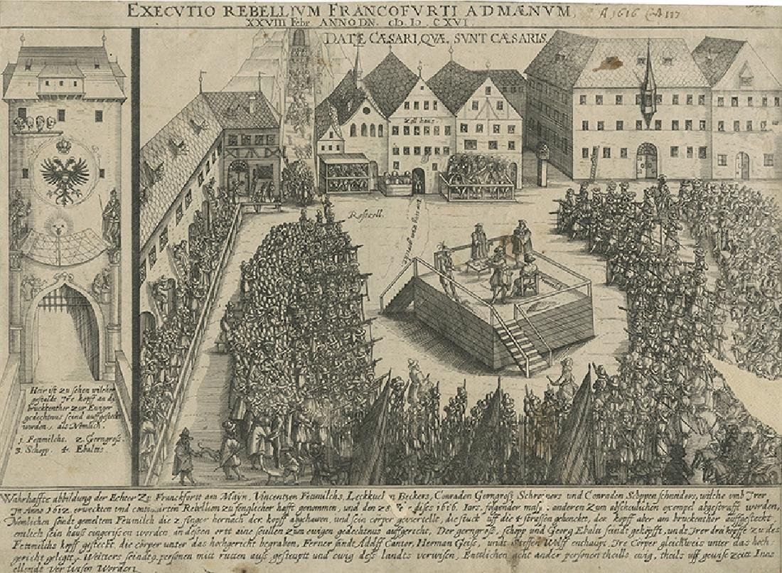 The Execution of Vinzenz Fettmilch - Engraving