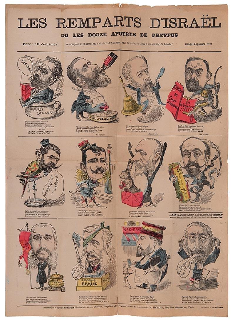 Les Remparts d'Israël - Anti-Dreyfus Illustrated Leaf