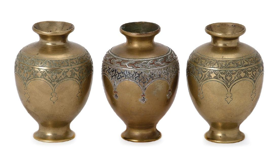 Three Brass Vases - Alfred Salzmann