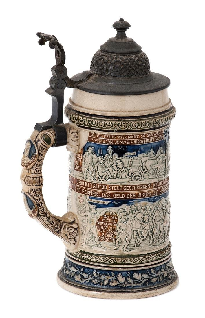 Anti-Semitic Beer Jug - Germany, 1893