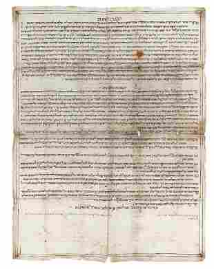 Large Handwritten Proclamation Regulations for