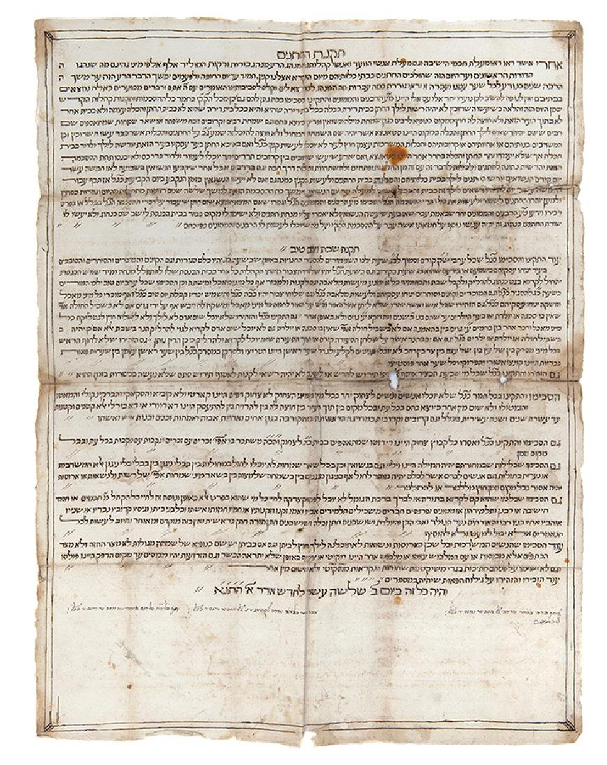 """Large Handwritten Proclamation, """"Regulations for"""