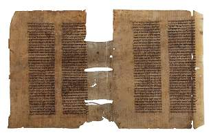 Parchment Manuscript Rashi Commentary on Tractate