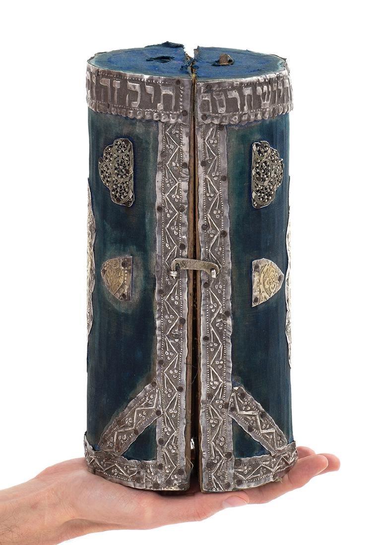 Miniature Torah Scroll on Deer Parchment, in Original