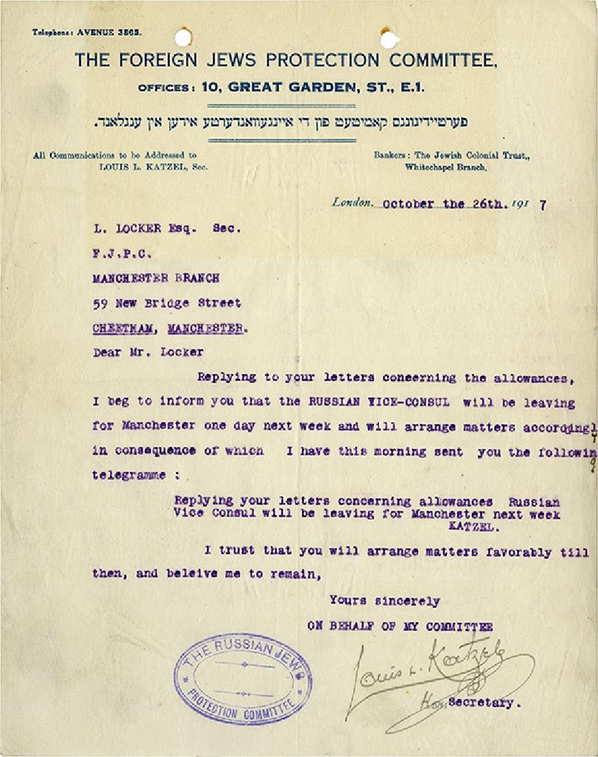 Extensive Collection of Letters - Enlistment of Jews to