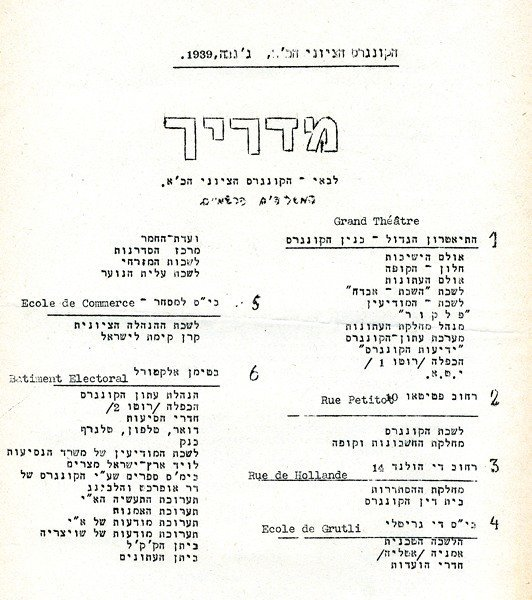 Zionist Congresses – Collection of  Documents