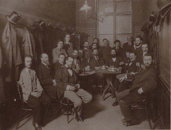 Theodor Herzl – Group Photograph in Vienna