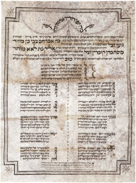 Manuscript on Parchment –Wedding Blessing Poem, 1805