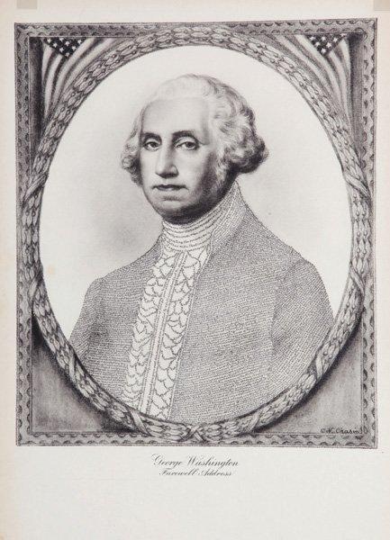 George Washington – Printed Micrography – U.S.A