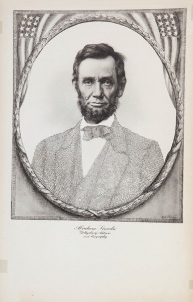 Two Portraits of Abraham Lincoln – Printed Micrography