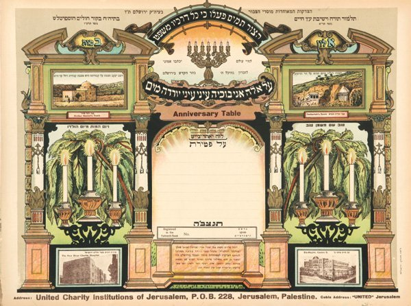Collection of Colorful Lithographic Sheets - Jerusalem