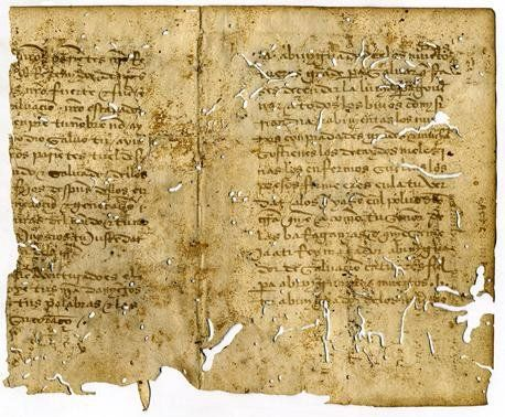 Leaf Remnants from a Siddur of Anusim, in Ancient