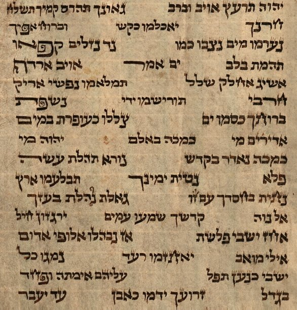 Torah scroll in Ancient Ashkenazi Writing, Written