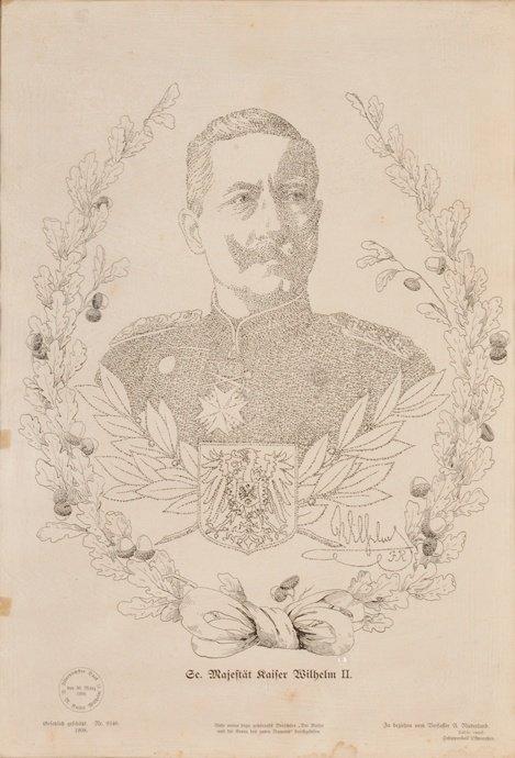 Printed Micrography – Emperor Wilhelm II
