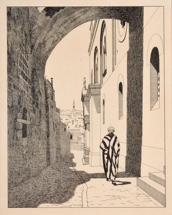 Ephraim Moshe Lilien – Via Dolorosa