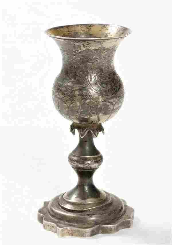 Silver Goblet - Vilnius, Late 19th Century