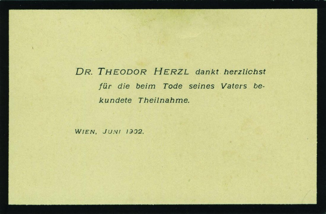 Theodor Herzl - Two Printed Letters, 1902-1904