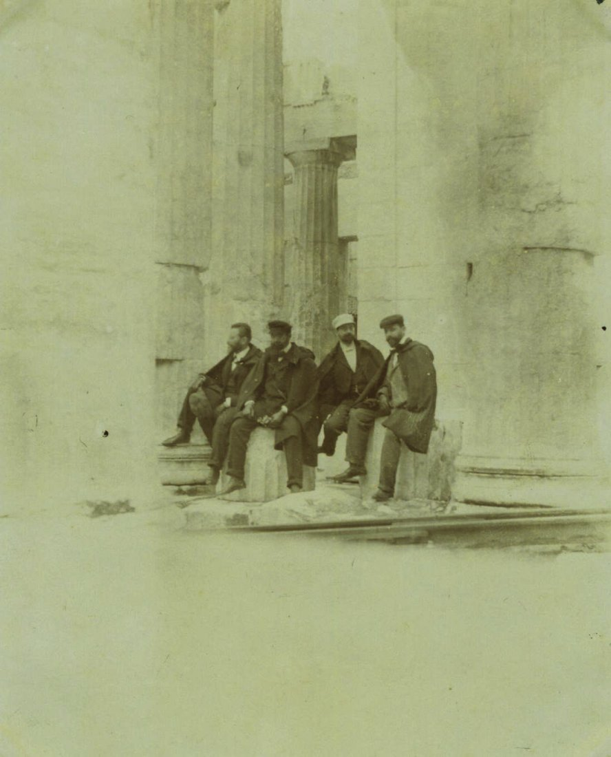 Photograph of Herzl and the Zionist Delegation in