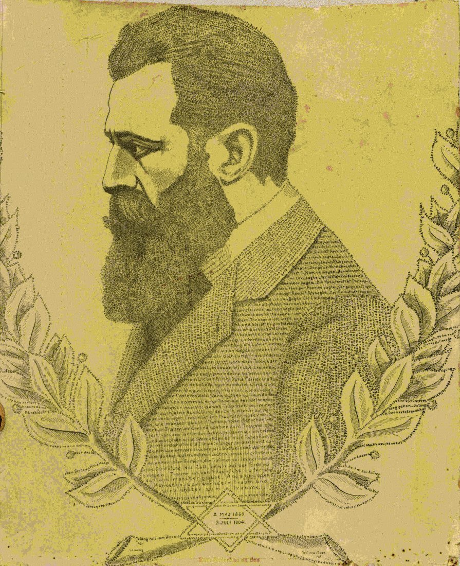 Herzl - Printed Micrography - Souvenir of the 11th