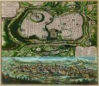 Map of Jerusalem - Augsburg, 18th Century