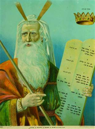 Moses / Aaron the Priest - Two Lithographs - Breslau